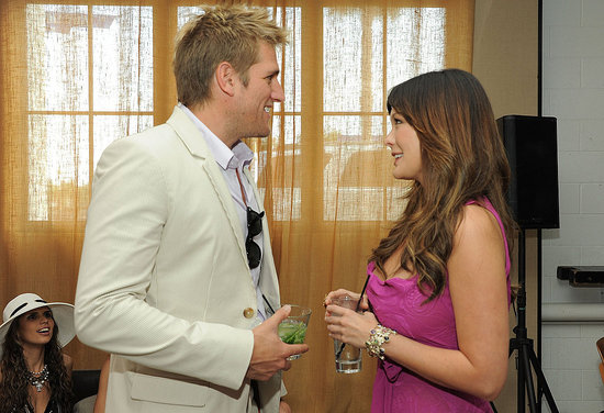curtis stone lindsay price 2011. Celebrity Chefs Out and About